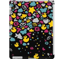 Toys falling like candies - black iPad Case/Skin