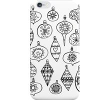 Retro Christmas Ornaments iPhone Case/Skin