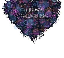 Shopping neon heart by AldanNi