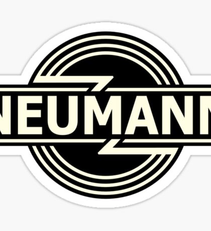 Horizontal Neumann Microphones  Sticker