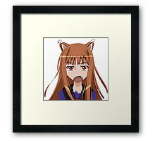 Holo Spice and Wolf Framed Print