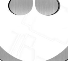 Music Notes Silver Heart Sticker