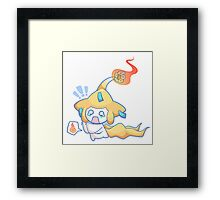Pikrachi on Fire!! Framed Print