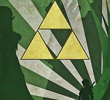 Legend of Zelda - Art Deco Style by Firenutdesign