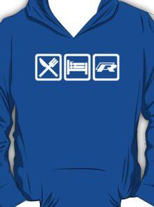 Eat / Sleep / R (White) T-Shirt