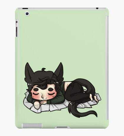 sleeping is a cat's best friend iPad Case/Skin