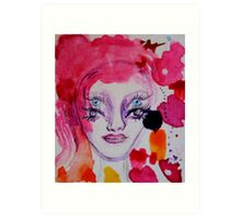 The Girl with the Eyes Art Print