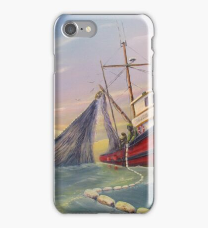 Seiner Hauling Salmon Net iPhone Case/Skin