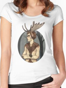 unhappy moosecroft Women's Fitted Scoop T-Shirt