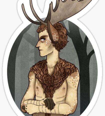unhappy moosecroft Sticker