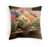 Zombie Easter Eggs Throw Pillow