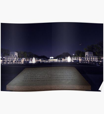 World War II Memorial Plate #3 Poster