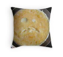 sad egg Throw Pillow