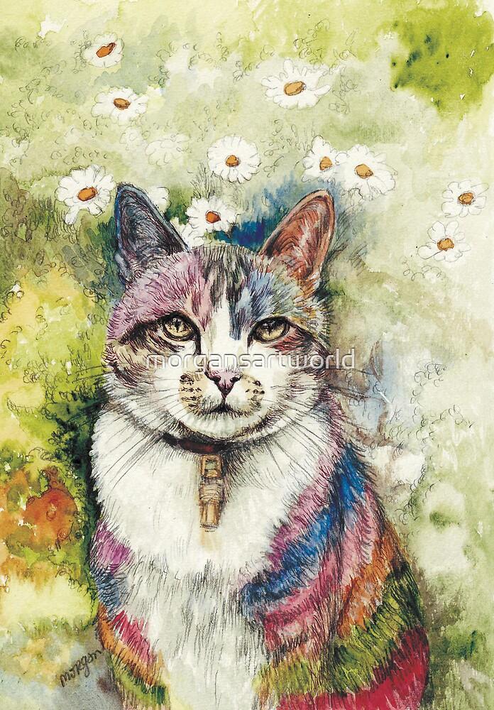 Rainbow cat by morgansartworld
