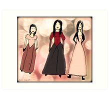 Work by Tane (8) - Three Beauties Art Print