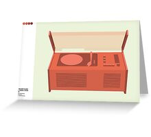 Dieter Rams SK4 Record Player Classic Design Greeting Card