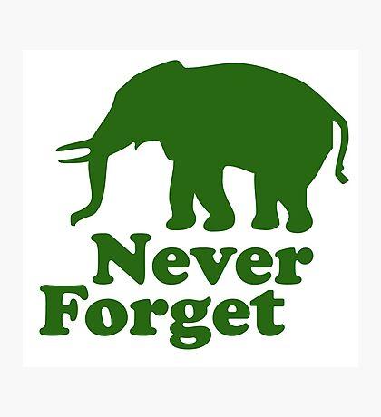 Never forget elephant joke Photographic Print