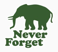 Never forget elephant joke Kids Tee