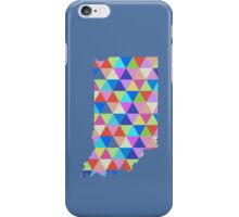 Indiana Colorful Triangles Geometric Hipster USA State Indianapolis iPhone Case/Skin