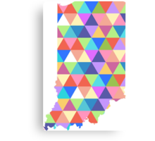 Indiana Colorful Triangles Geometric Hipster USA State Indianapolis Canvas Print