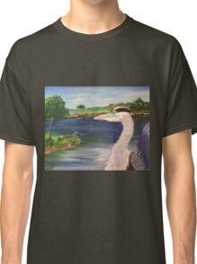 Blue Heron on Lake Classic T-Shirt