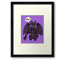 Toothless can has Feesh? Framed Print