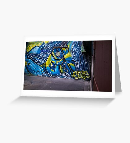 Alley art in Melbourne, Australia Greeting Card