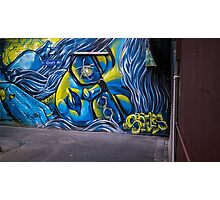 Alley art in Melbourne, Australia Photographic Print