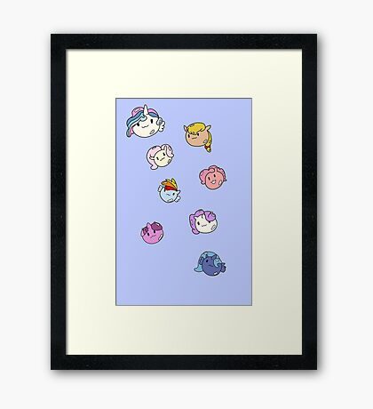 Pony Bubbles Framed Print