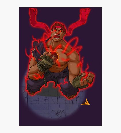 Evil Ryu Photographic Print