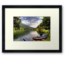 Feld am See ( Feld Lake ) - Carinthia - Austria Framed Print