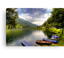 Feld am See ( Feld Lake ) - Carinthia - Austria Canvas Print