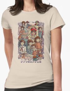 Ghibli's Angels Womens Fitted T-Shirt