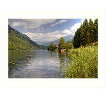 Afritzer See ( Afritzer Lake ) - Carinthia - Austria Art Print