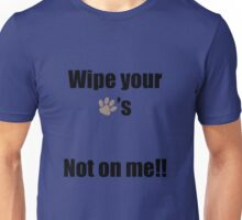 Wipe Your Paws Unisex T-Shirt