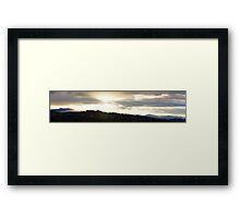 golden glow at sunset Framed Print