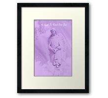 An Angel To Watch Over You Framed Print