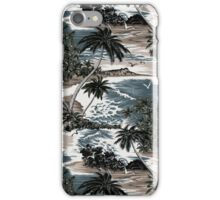 Diamond Head Scenic Hawaiian Aloha Shirt Print - Taupe iPhone Case/Skin