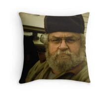 Portrait Of The Artist In Warm Hat Throw Pillow