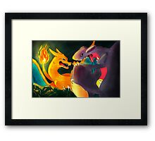 Dark Cave: Charizard Framed Print