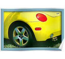 Yellow Turbo Bug Poster