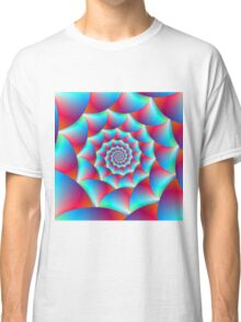 Spiral in Blue and Red Classic T-Shirt