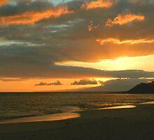 Sunset At Big Beach, Maui by Stephen Vecchiotti