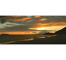 Sunset At Big Beach, Maui Photographic Print