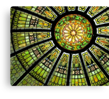 Stained Glass Dome Canvas Print