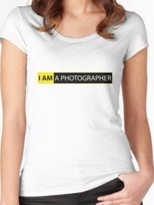 I AM A PHOTOGRAPHER Women's Fitted Scoop T-Shirt