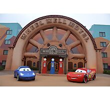 Disney Pixar Cars Lightning McQueen Sally Radiator Sprints Photographic Print