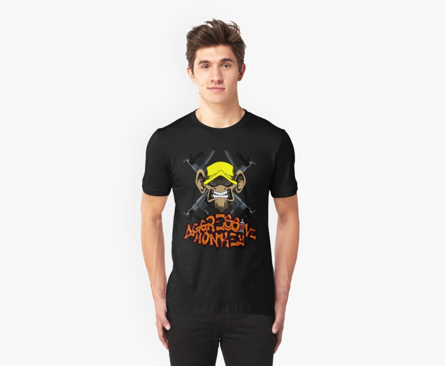 Official Aggressive Monkey T-Shirt by WOOKiE