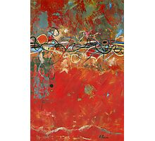 Red Meander Photographic Print