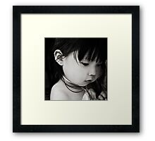 sometimes you put walls up not to keep people out, but to see who cares enough to break them down... Framed Print